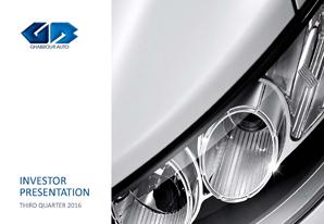 3Q 2016 GB Auto Investor Presentation